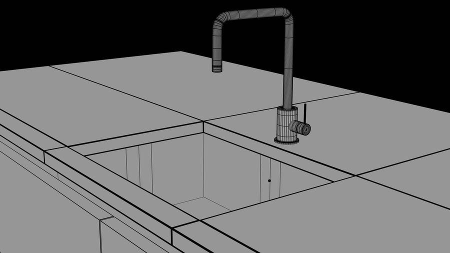 Mueble de cocina royalty-free modelo 3d - Preview no. 22