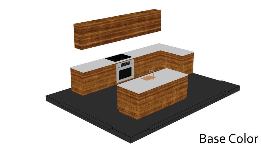 Mueble de cocina royalty-free modelo 3d - Preview no. 15