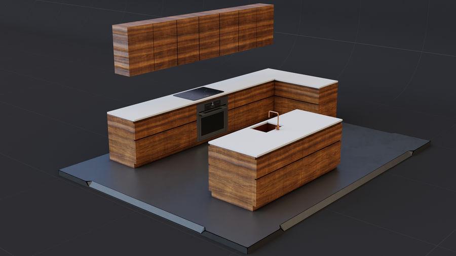 Mueble de cocina royalty-free modelo 3d - Preview no. 7