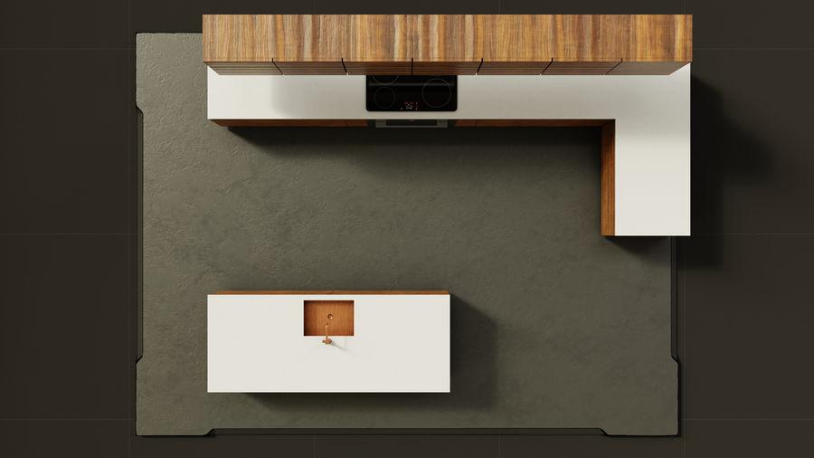 Mueble de cocina royalty-free modelo 3d - Preview no. 6