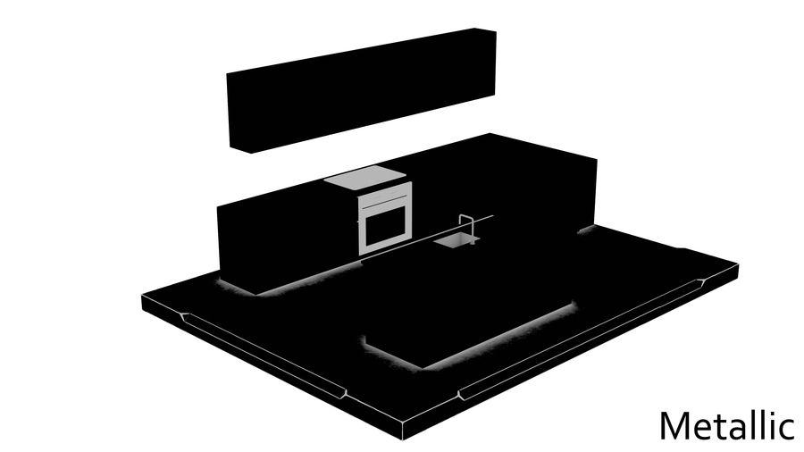 Mueble de cocina royalty-free modelo 3d - Preview no. 16