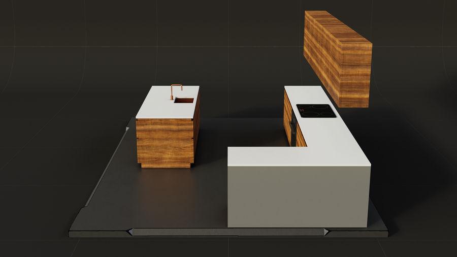 Mueble de cocina royalty-free modelo 3d - Preview no. 5