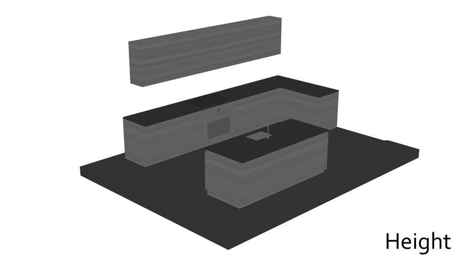 Mueble de cocina royalty-free modelo 3d - Preview no. 19