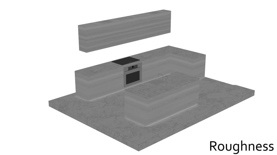 Mueble de cocina royalty-free modelo 3d - Preview no. 17