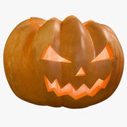 Pumpkin Clean Angry Emotion Candle 3d model