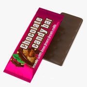 Chocolate bar MockUp 3d model
