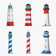 Lighthouse low poly 3d model
