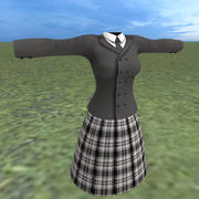 Schulmädchenuniform 3d model