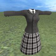 schoolgirl uniform 3d model