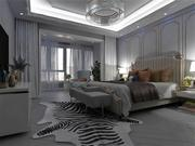 Bedroom - Hotel Style 3d model