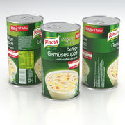 Knorr Gemusesuppe Vegetable Soup Can 500g 2019 3d model