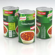 Knorr Gulaschsuppe Goulash Soup Can 500g 2019 3d model