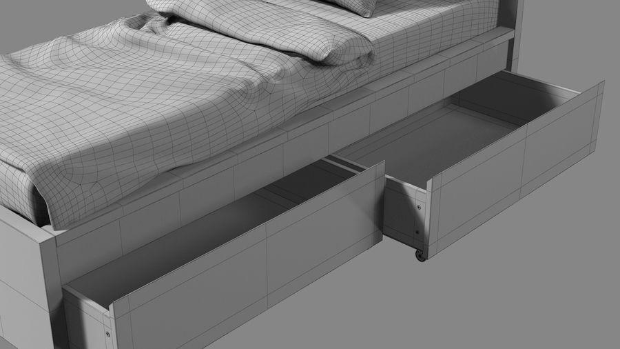 Łóżko pojedyncze IKEA Malm z szufladą royalty-free 3d model - Preview no. 18