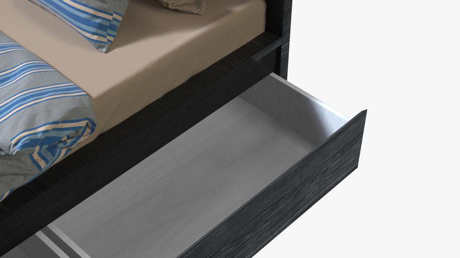 Łóżko pojedyncze IKEA Malm z szufladą royalty-free 3d model - Preview no. 9