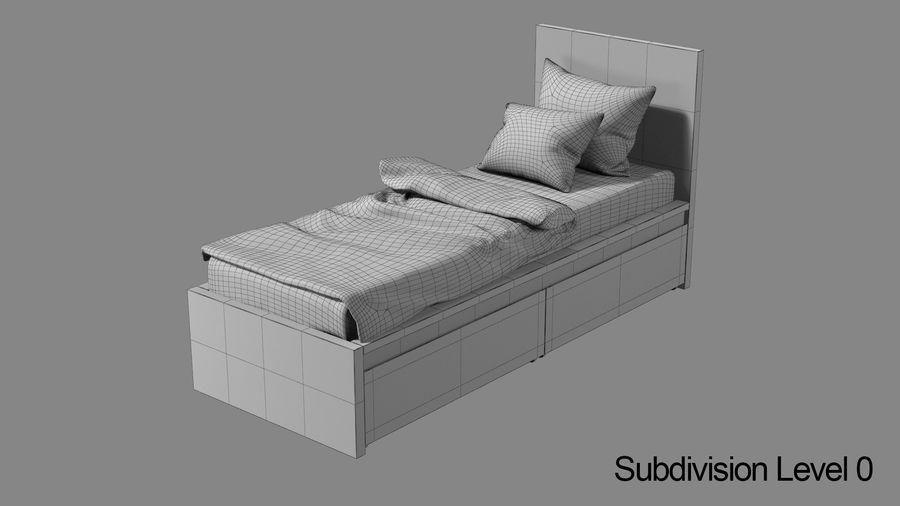 Łóżko pojedyncze IKEA Malm z szufladą royalty-free 3d model - Preview no. 10