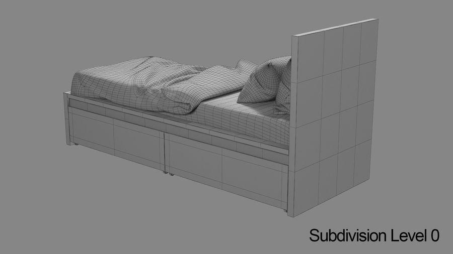 Łóżko pojedyncze IKEA Malm z szufladą royalty-free 3d model - Preview no. 12