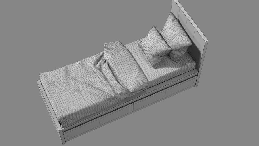 Łóżko pojedyncze IKEA Malm z szufladą royalty-free 3d model - Preview no. 15