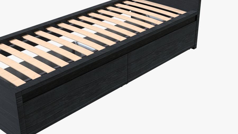 Łóżko pojedyncze IKEA Malm z szufladą royalty-free 3d model - Preview no. 7