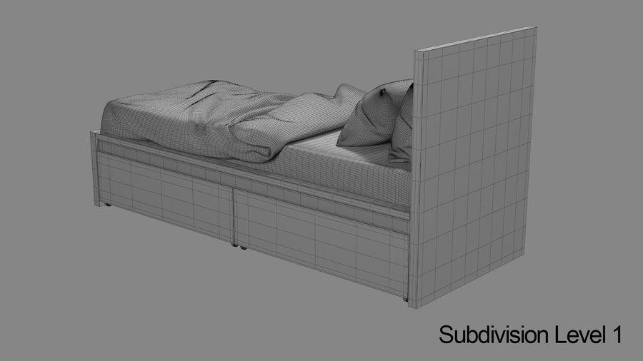 Łóżko pojedyncze IKEA Malm z szufladą royalty-free 3d model - Preview no. 13