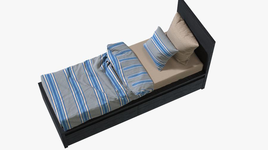 Łóżko pojedyncze IKEA Malm z szufladą royalty-free 3d model - Preview no. 5