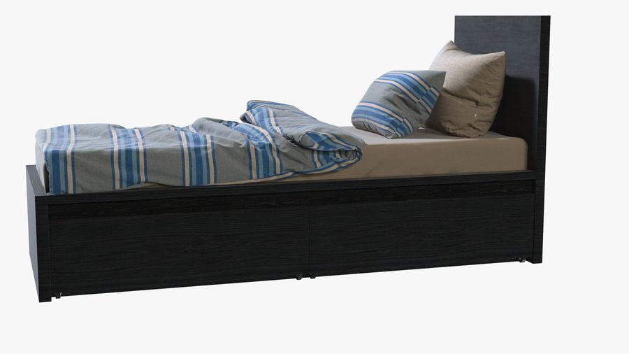 Łóżko pojedyncze IKEA Malm z szufladą royalty-free 3d model - Preview no. 4