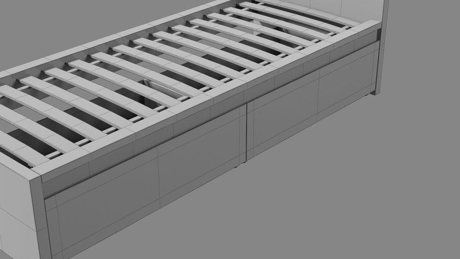 Łóżko pojedyncze IKEA Malm z szufladą royalty-free 3d model - Preview no. 17