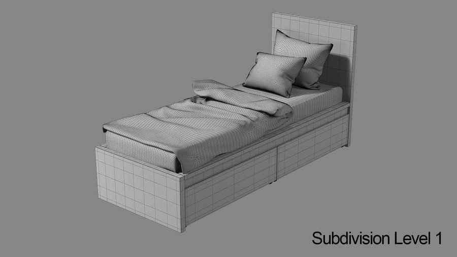 Łóżko pojedyncze IKEA Malm z szufladą royalty-free 3d model - Preview no. 11