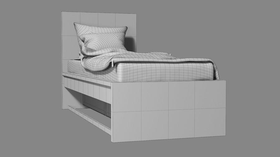 Łóżko pojedyncze IKEA Malm z szufladą royalty-free 3d model - Preview no. 16
