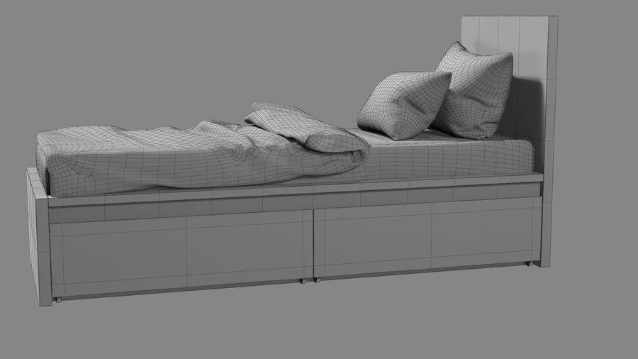 Łóżko pojedyncze IKEA Malm z szufladą royalty-free 3d model - Preview no. 14
