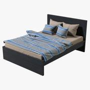 IKEA Malm Double Bed 3d model