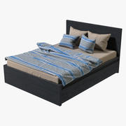 IKEA Malm Double Bed with Drawer 3d model
