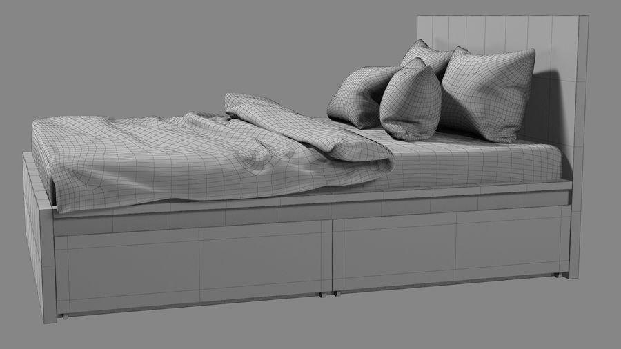 IKEA Malm Łóżko podwójne z szufladą royalty-free 3d model - Preview no. 14