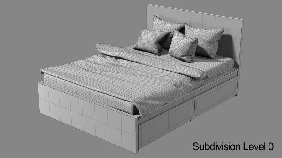IKEA Malm Łóżko podwójne z szufladą royalty-free 3d model - Preview no. 10