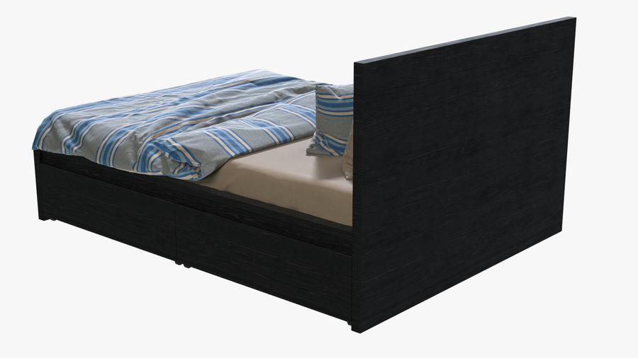 IKEA Malm Łóżko podwójne z szufladą royalty-free 3d model - Preview no. 3
