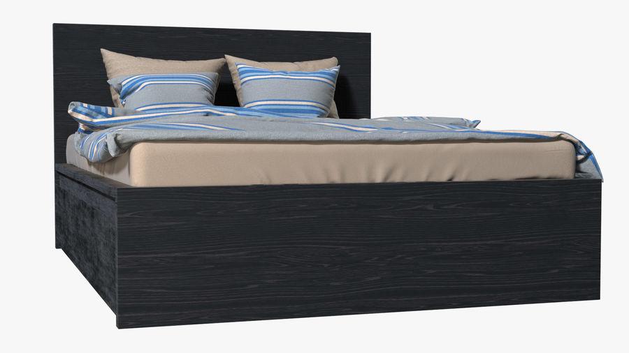 IKEA Malm Łóżko podwójne z szufladą royalty-free 3d model - Preview no. 6