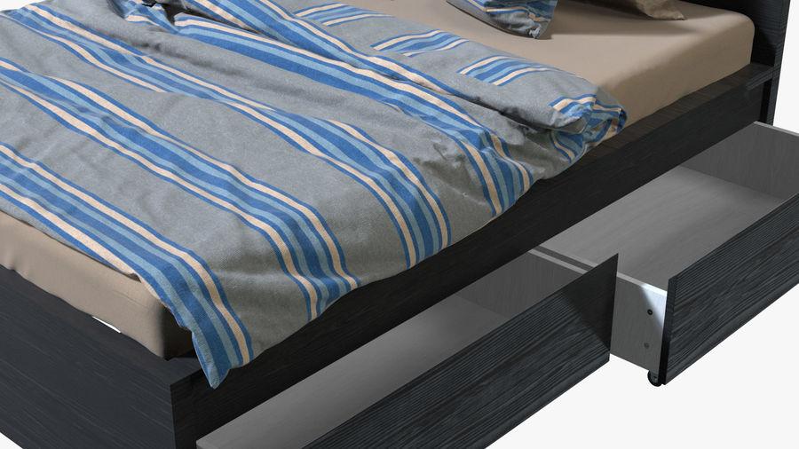 IKEA Malm Łóżko podwójne z szufladą royalty-free 3d model - Preview no. 8
