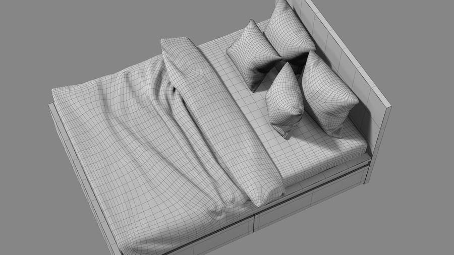 IKEA Malm Łóżko podwójne z szufladą royalty-free 3d model - Preview no. 15