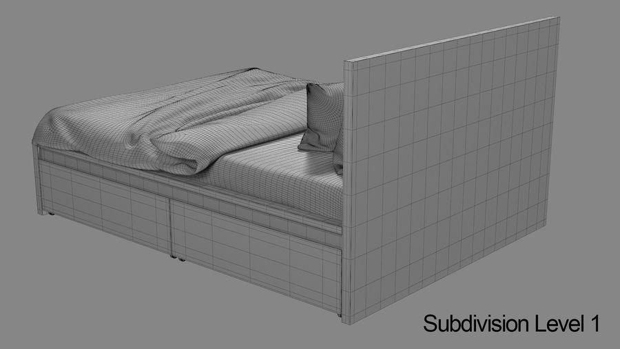 IKEA Malm Łóżko podwójne z szufladą royalty-free 3d model - Preview no. 13