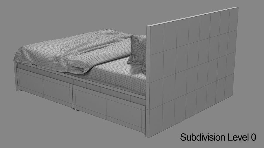 IKEA Malm Łóżko podwójne z szufladą royalty-free 3d model - Preview no. 12