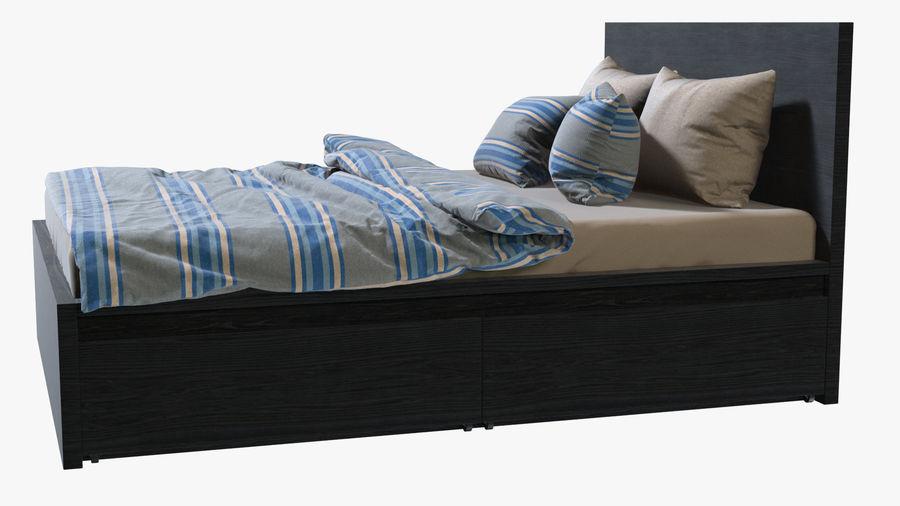IKEA Malm Łóżko podwójne z szufladą royalty-free 3d model - Preview no. 4