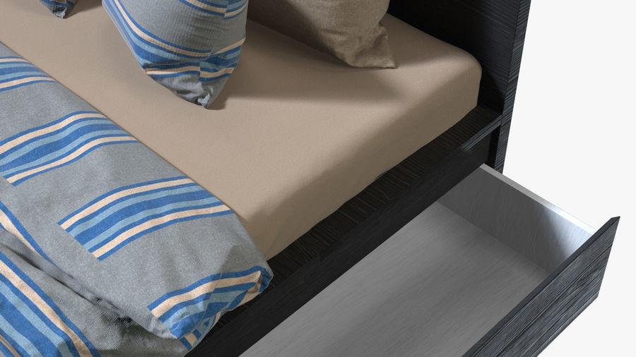 IKEA Malm Łóżko podwójne z szufladą royalty-free 3d model - Preview no. 9