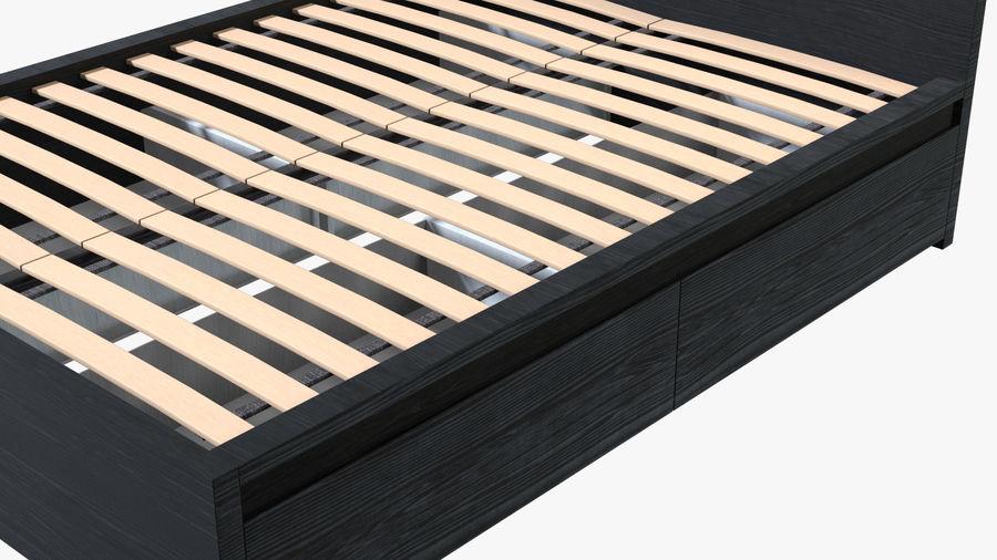 IKEA Malm Łóżko podwójne z szufladą royalty-free 3d model - Preview no. 7