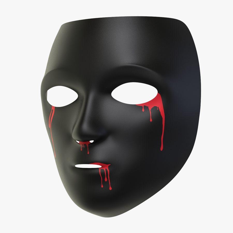 Halloween Black Mask 3d Model 19 Max C4d Stl Obj Fbx Free3d