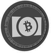 bitcoin cash black coin 3d model