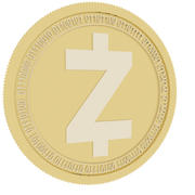 zcash gold coin 3d model