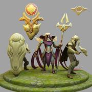 3D Model League Of Legends Championship Azir 3d model