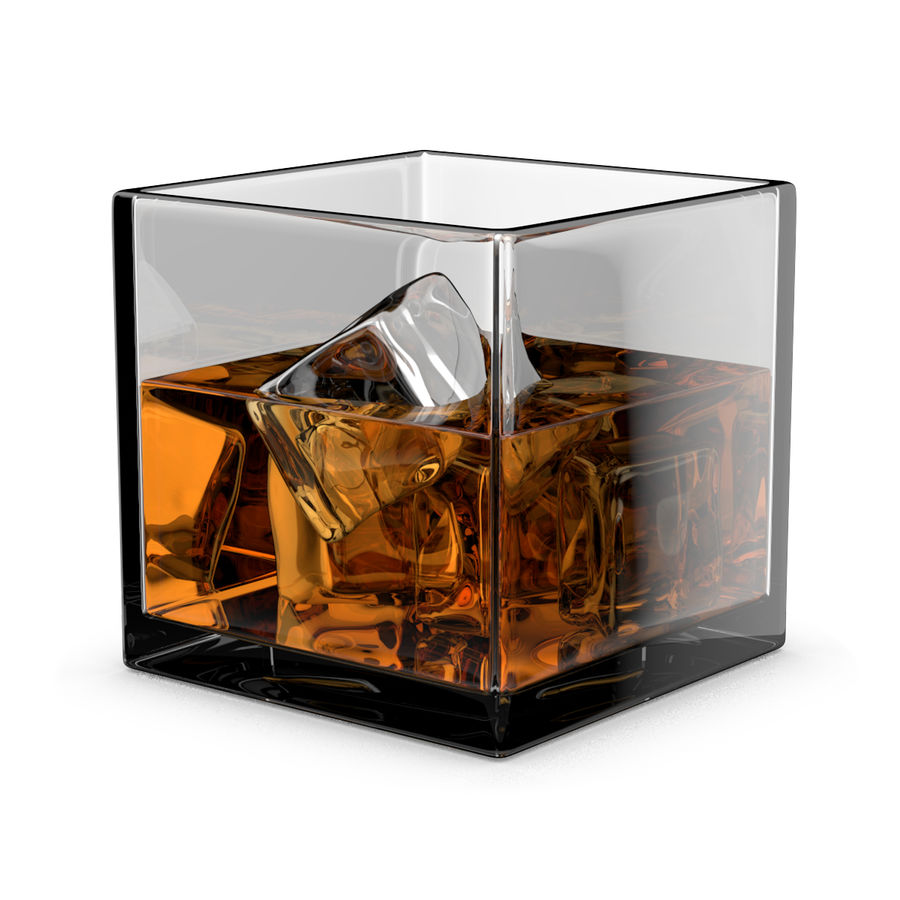 Whiskey Glass Square royalty-free 3d model - Preview no. 1