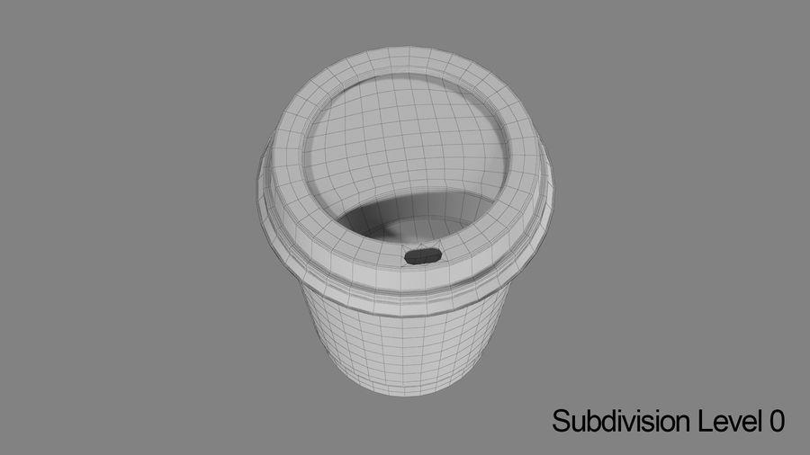 Papieren koffiekopje vies royalty-free 3d model - Preview no. 9