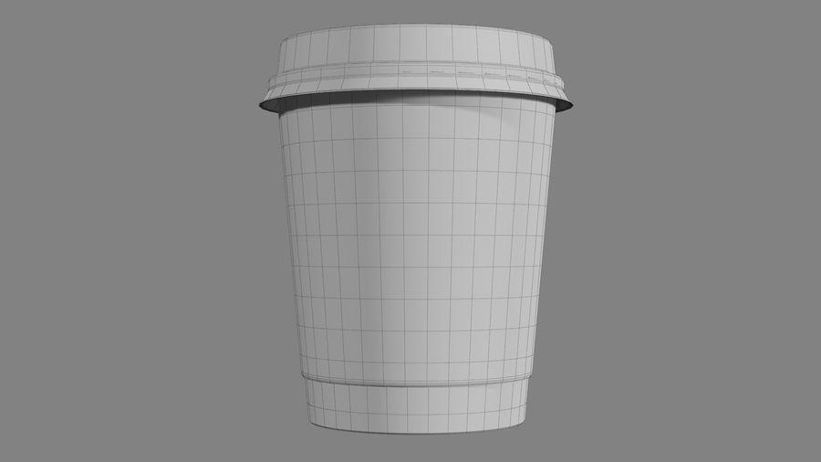 Papieren koffiekopje vies royalty-free 3d model - Preview no. 12