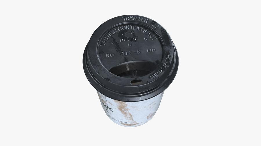 Papieren koffiekopje vies royalty-free 3d model - Preview no. 3